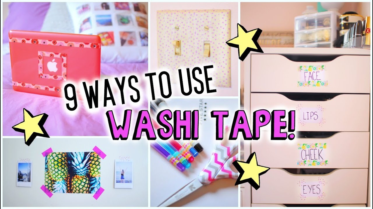 What To Do With Washi Tape 9 ways to use washi tape! - youtube
