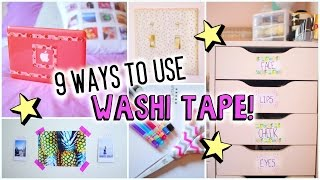 9 Ways To Use Washi Tape!