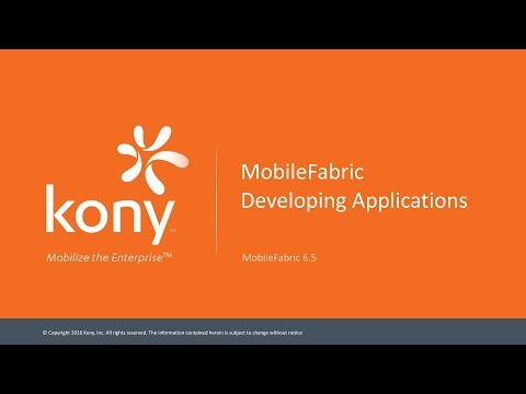 Developing Applications with a Kony MobileFabric backend