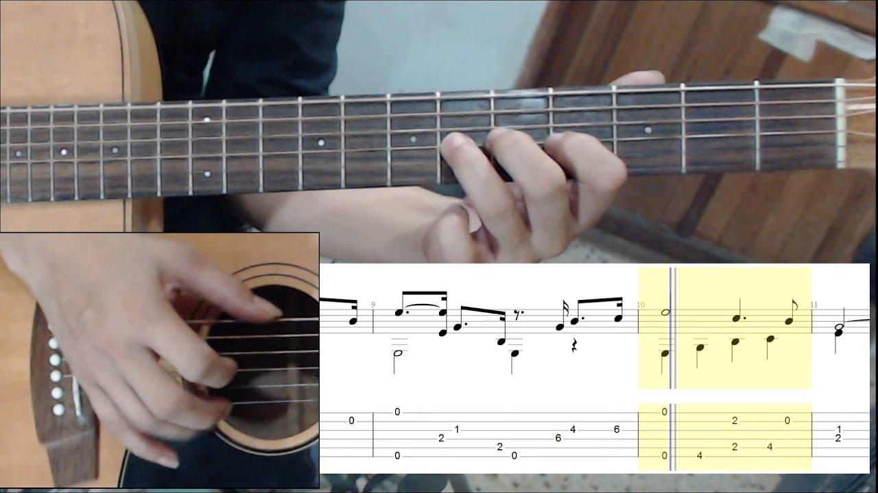 เพลงพระราชนิพนธ์ ใกล้รุ่ง Cover Guitar & TAB - YouTube