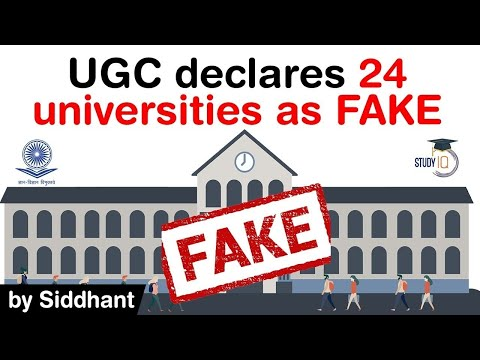 University Grants Commission declares 24 universities as FAKE - Fake university list 2020 #UPSC #IAS