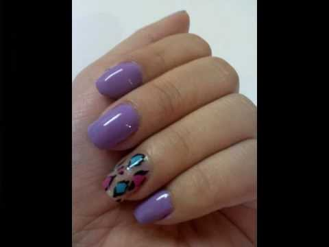 nail designs☆on natural nails - YouTube