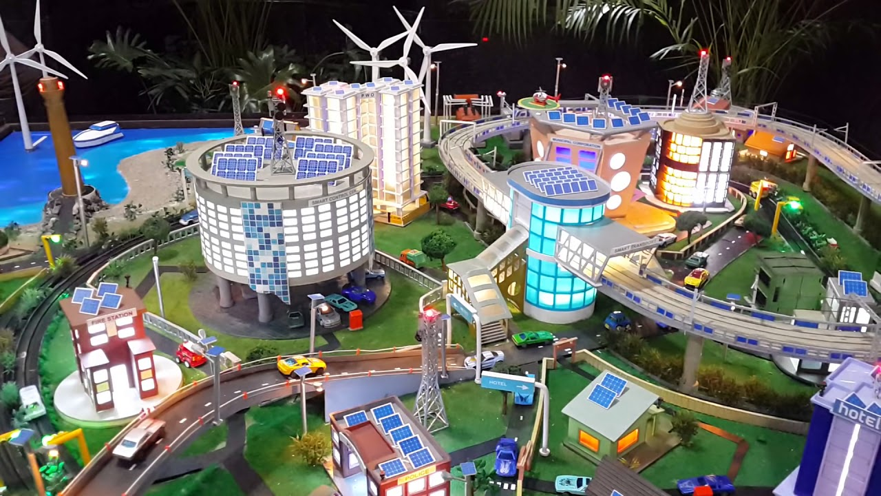 Pictures Of Toy Models Of Cities : Tejas dubhir smart city model youtube