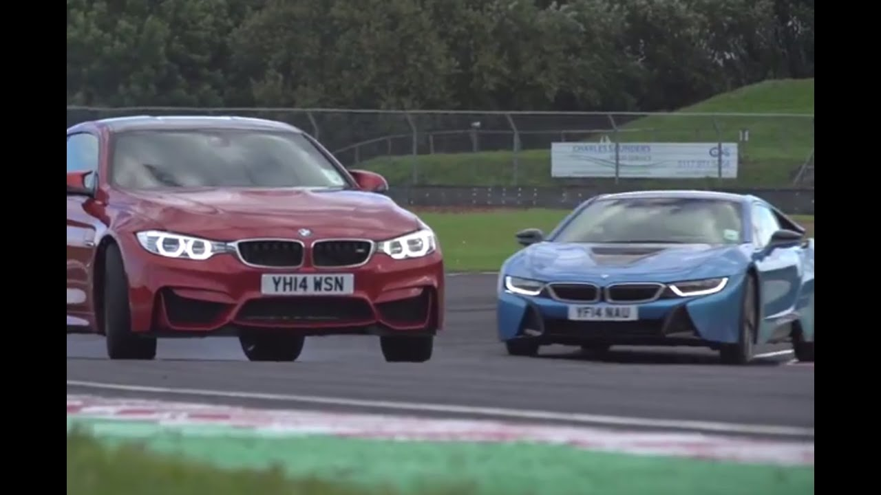 Bmw I8 Versus M4 Track Battle Youtube