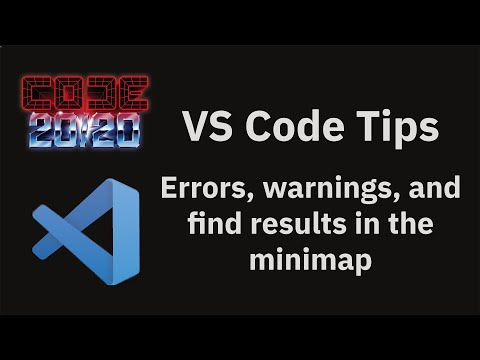 Errors, warnings, and find results in the minimap