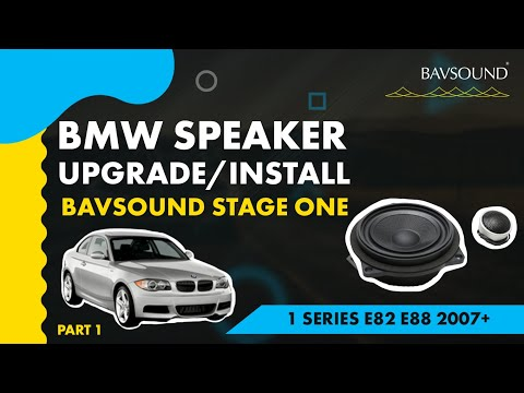 BAVSOUND - BMW 1 Series Speaker Upgrade 1:2  BSW Stage One  E82:88