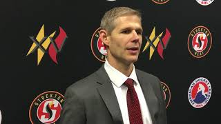 Stockton Heat Coach Cail MacLean (10-12-19)