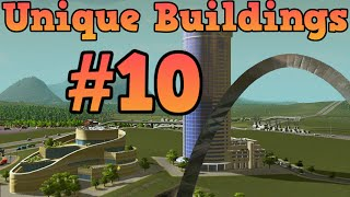 Cities Skylines Unlocking unique buildings Ep10 Statue of Wealth, Posh Mall, Observatory