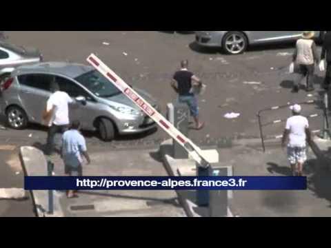 Marseille Porte d'AIx le parking du racket