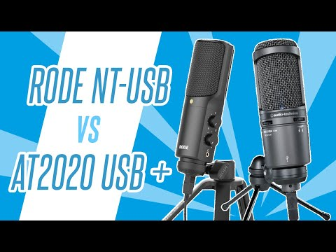 Rode NT-USB v Audio-Technica AT2020 USB PLUS Pro USB Mic Head To Head