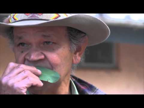 Ossie Cruze: Aboriginal Elder Plays Gum Leaf