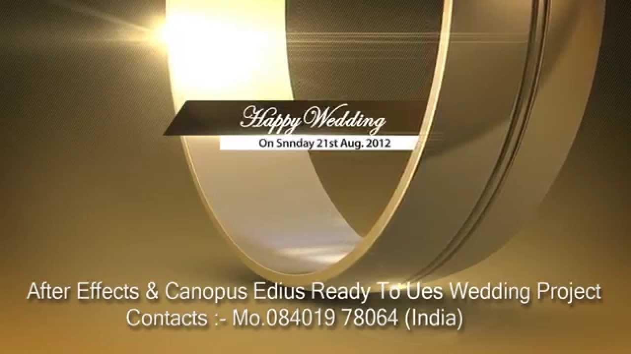 After effects wedding title happy wedding ring youtube for Adobe after effects templates torrent