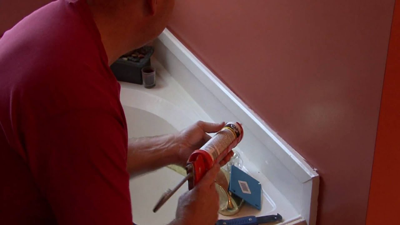 home maintenance repair tips how to re caulk a bathtub youtube. Black Bedroom Furniture Sets. Home Design Ideas