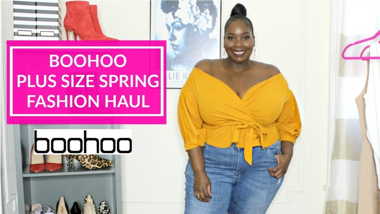 cec91d722c88e Boohoo Plus Size Spring Fashion Haul 2019 - YouTube
