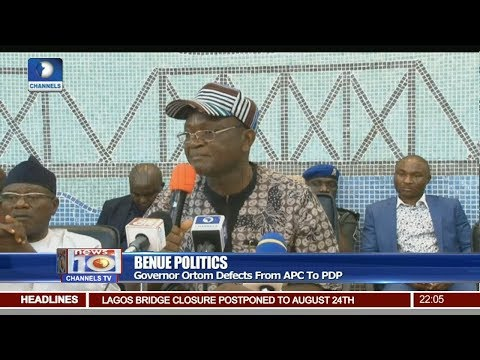 Governor Ortom Defects From APC To PDP Pt 1 25/07/18 | News@10 |