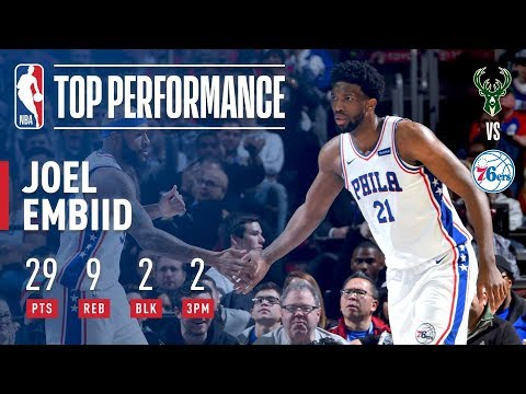 Joel Embiid Puts Up 29 Points vs The Bucks