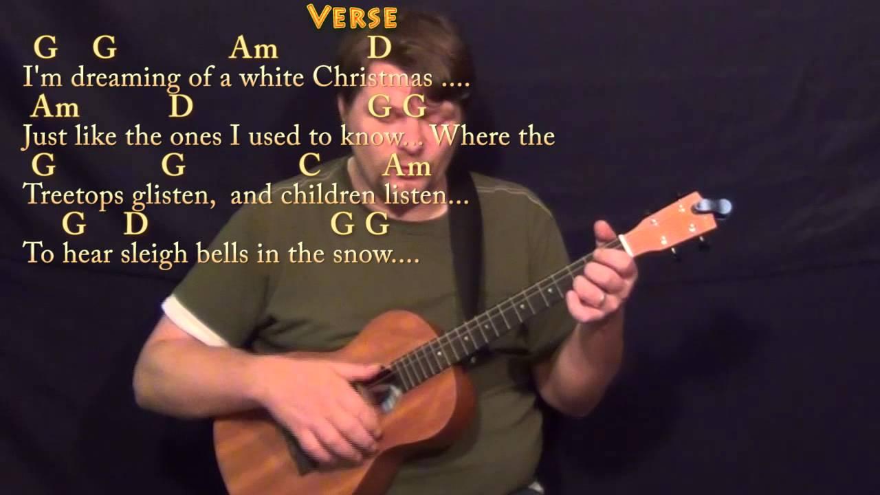 White Christmas Bariuke Cover Lesson In G With Chordslyrics Youtube