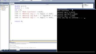 programming in c c episode 0037 math functions log and log10