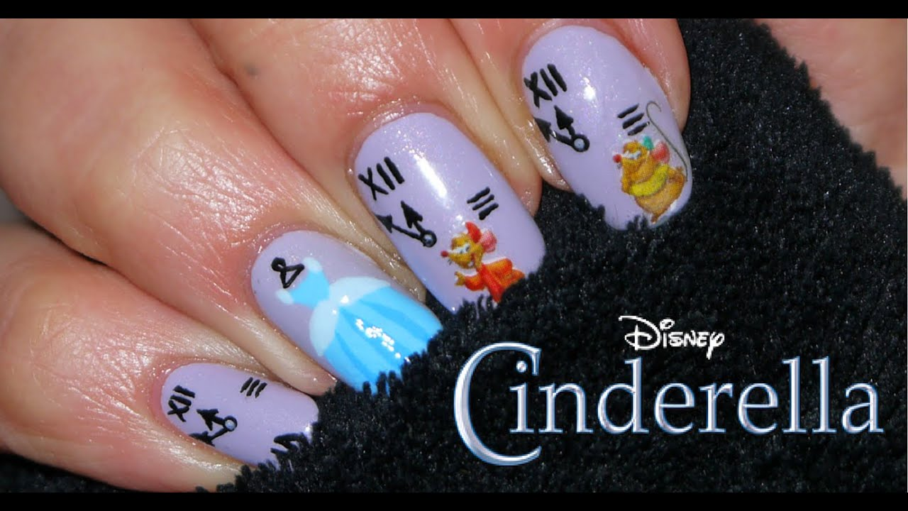 - Cinderella Nail Art (Easy) - YouTube