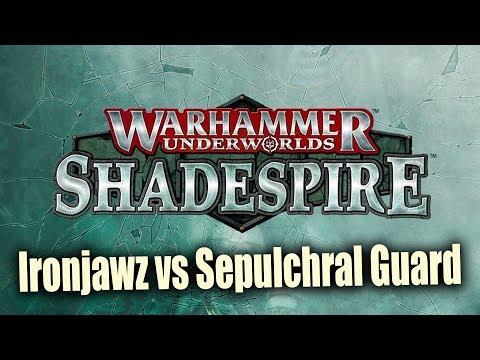 Ironjawz vs Sepulchral Guard Shadespire Warhammer Shadespire : Underworlds Ep 8