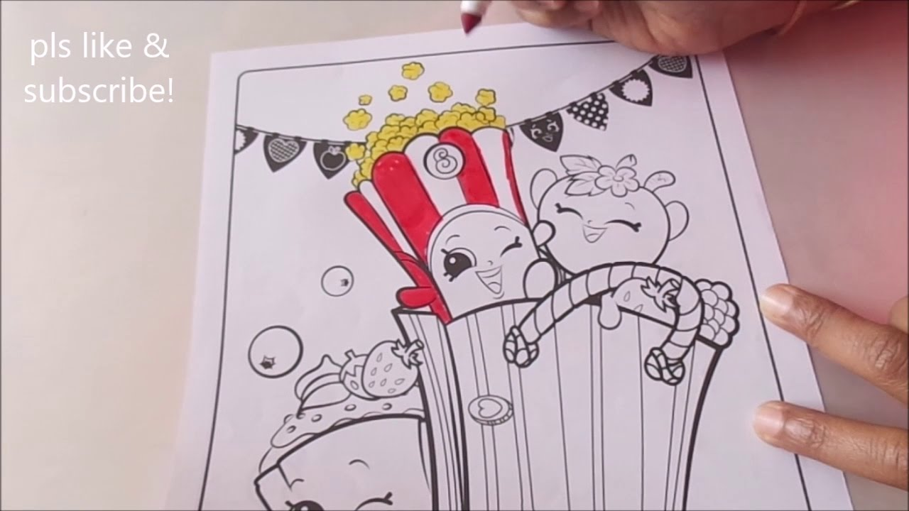 Shopkins coloring pages popcorn - Shopkins Speed Coloring Crayola Coloring Page Poppy Corn Popcorn