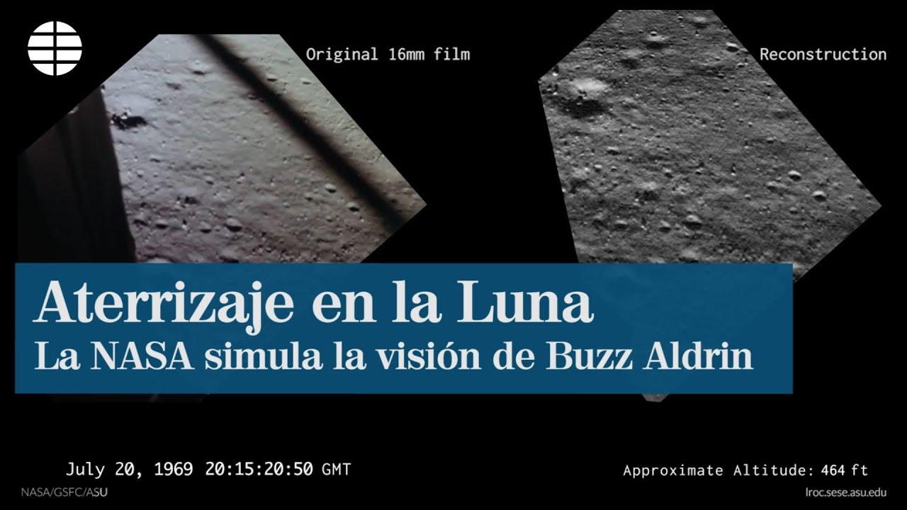 ¿Qué vio Aldrin cuando aterrizó en la Luna?