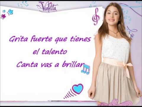 Violetta - Tienes el talento,letra.