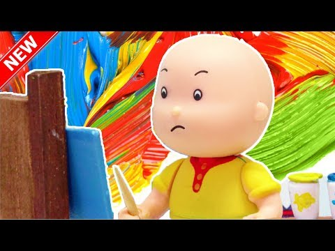 ★NEW★ Caillou 's Paint    Funny Animated cartoons Kids   Caillou Stop Motion   Cartoon movie