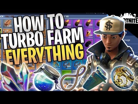 FORTNITE - New Way To Turbo Farm Everything In Save The Worl