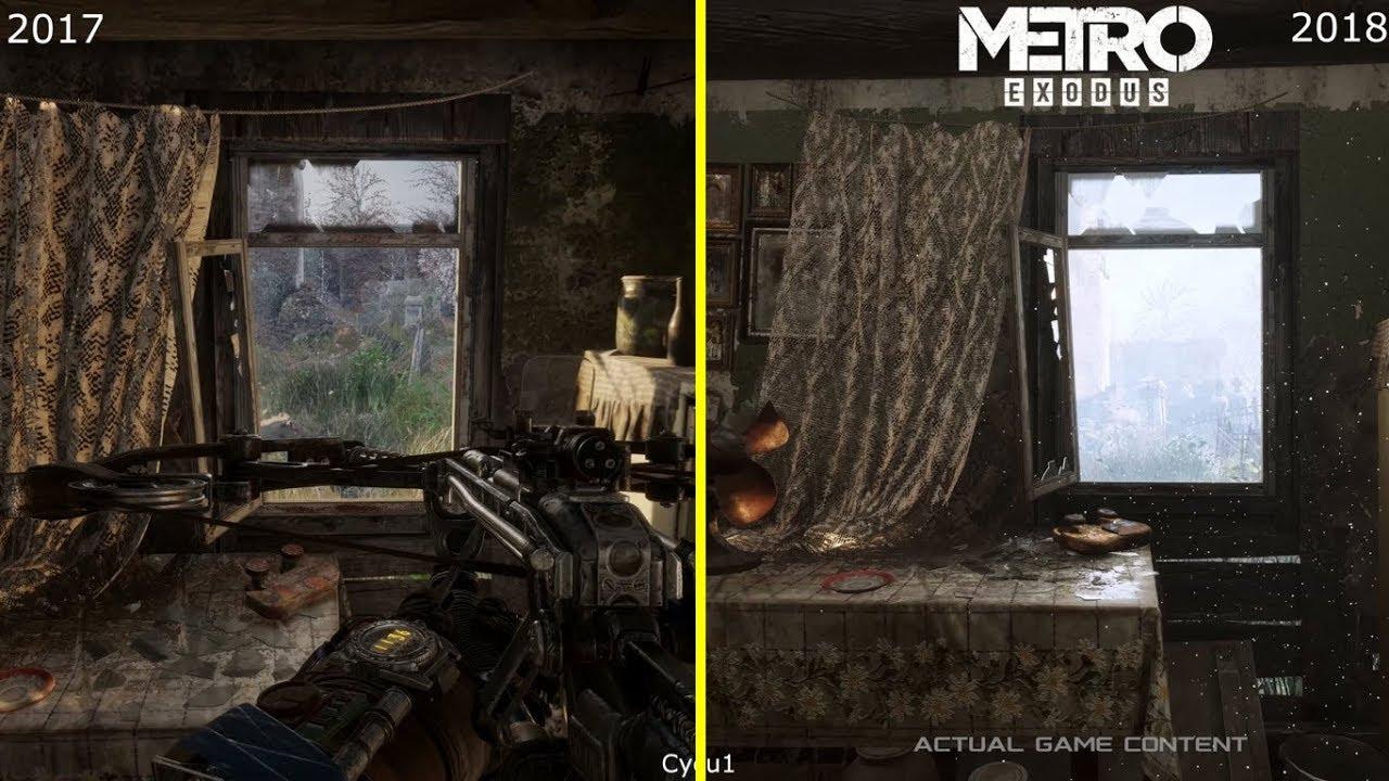 Metro Exodus E3 2017 vs 2018 GDC Tech Demo Graphics Comparison