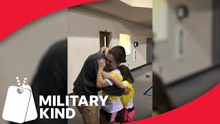 Army dad surprises daughters at soccer practice