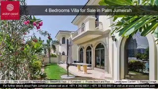 4 Bedrooms Villa for Sale in Palm Jumeirah, Frond A