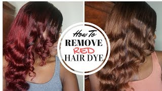 PRAVANA COLOR EXTRACTOR   How to Remove Red Hair Dye WITHOUT Bleach   Ali Grace Hair