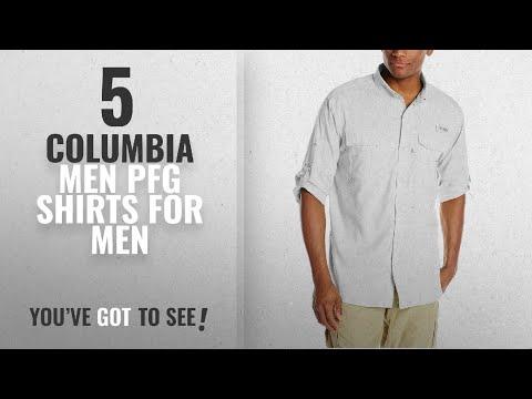 Top 10 Columbia Men Pfg Shirts [2018 ]: Columbia Blood And Guts III Long Sleeve Woven Shirt, White,