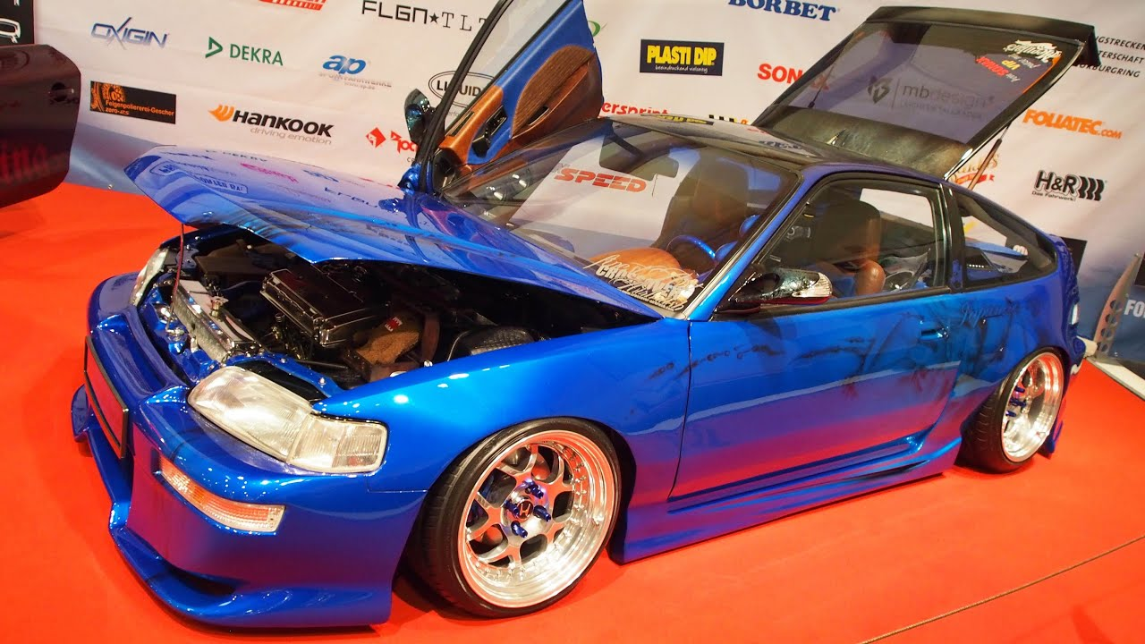 honda crx vtec 1990 tuning 214 ps at essen motorshow. Black Bedroom Furniture Sets. Home Design Ideas
