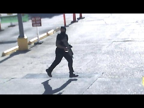 Security video shows Baton Rouge gunman's stakeout
