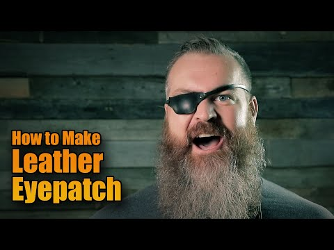 Leather Eye Patches: How to make Leather Eye Patches with Patterns