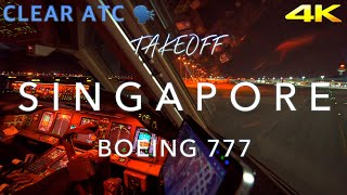 SINGAPORE | BOEING 777 TAKEOFF 4K