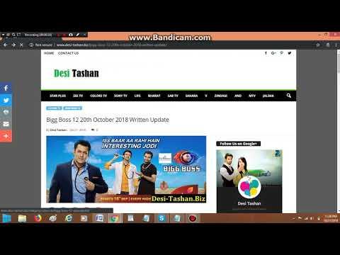 Bigg Boss 12 Full Episodes Watch Online Desi Tashan
