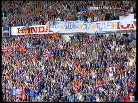 2003 Rangers win the league,  6 v 1 v Dunfermline