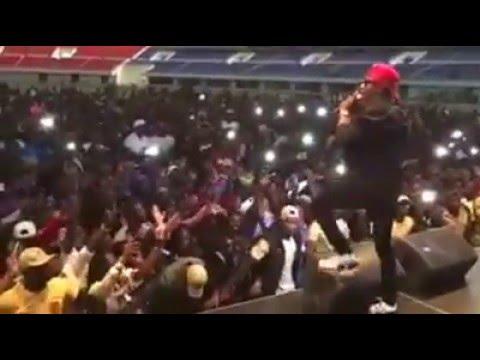 Wizkid In Zambia Heroes Stadium