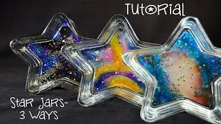 Tutorial - Resin Galaxy Star Jars - 3 Ways