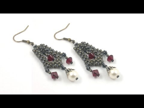 "beading4perfectionists : Medieval ""Reign"" inspired earrings beading totorial CRAW"