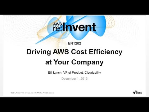 AWS re:Invent 2016: Driving AWS Cost Efficiency at Your Company (ENT202)