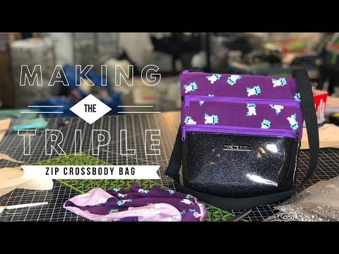 Making The Triple Zip Crossbody bag by Sew Da Kine   Jessica Cruzan ...