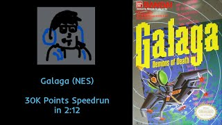 Galaga (NES) - 30K Points in 2:12