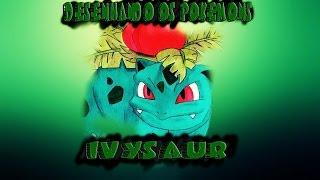 Desenhando os Pokémons : #2 - Ivysaur (Speed Drawing)