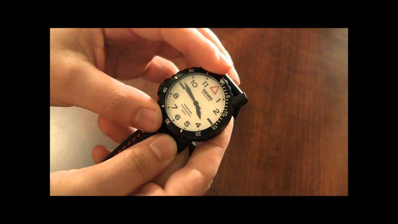 Dievas vortex professional watch review youtube for Vortix watches