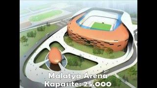 Türkiye'deki 17 Yeni Stadyum Ve Kapasiteleri