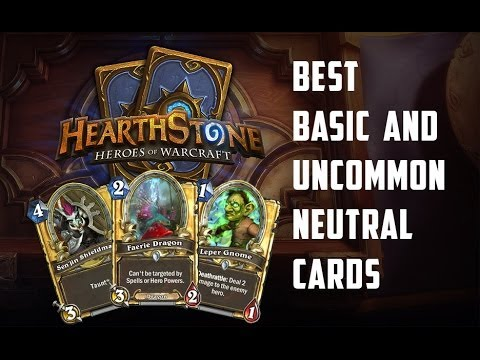 Best Basic And Common Neutral Cards In Hearthstone - YouTube